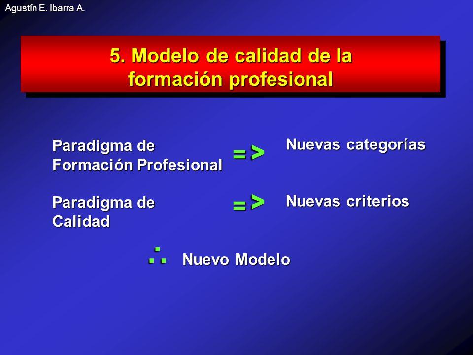 Agustín E.Ibarra A. 5. Modelo de calidad de la formación profesional 5.