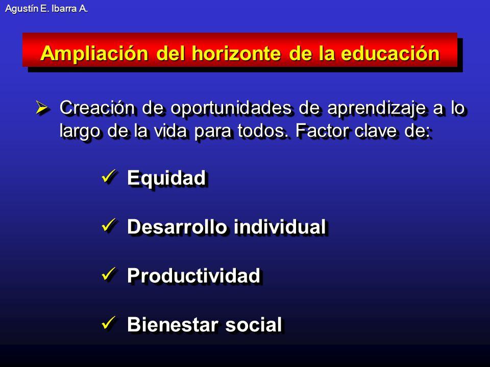 Agustín E.Ibarra A. Creación de oportunidades de aprendizaje a lo largo de la vida para todos.