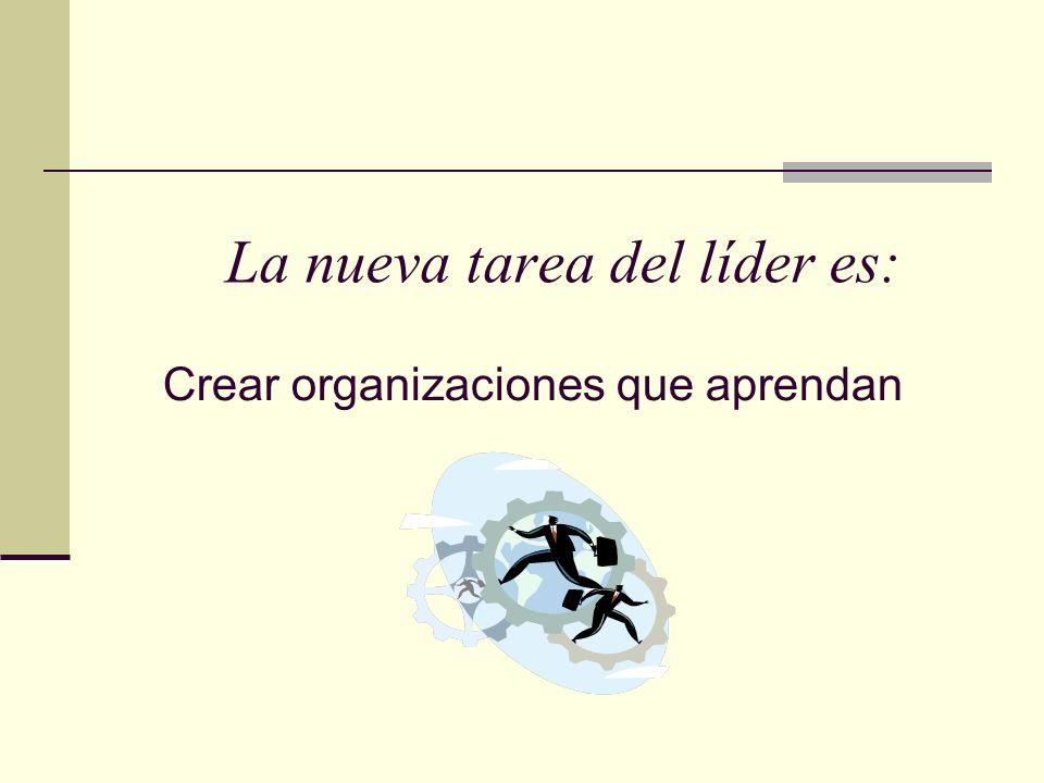 La nueva tarea del líder es: Crear organizaciones que aprendan