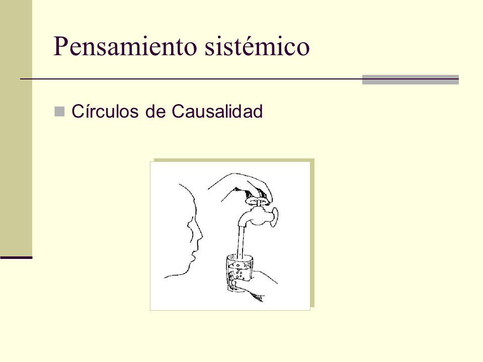 Pensamiento sistémico Círculos de Causalidad