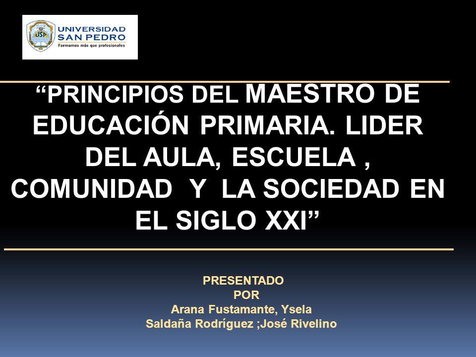 PRINCIPIOS DEL MAESTRO DE EDUCACIÓN PRIMARIA.