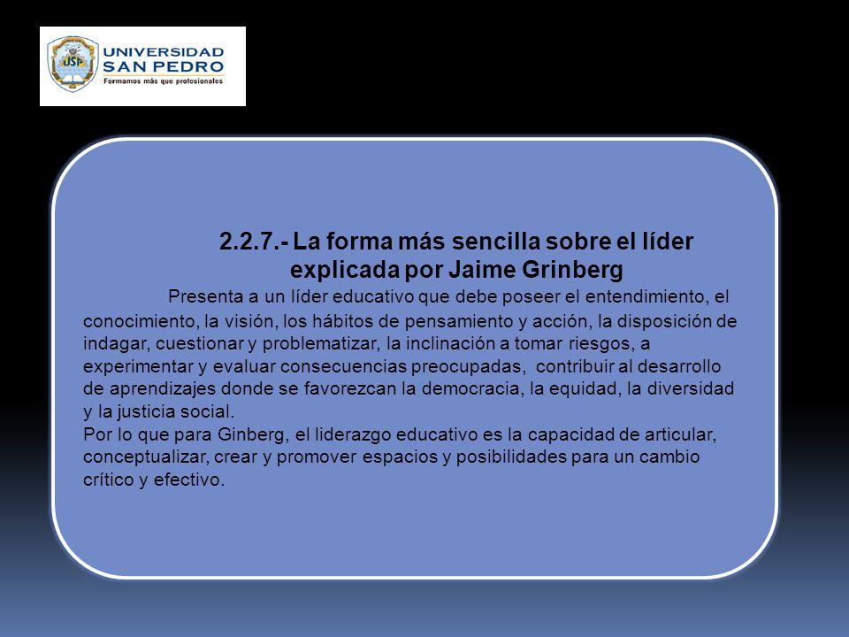 2.2.6.-Análisis del rol del docente y de un líder pedagógico de Alexander Ortiz diferencia Docente Líder Pedagógico de los niveles superiores en la in