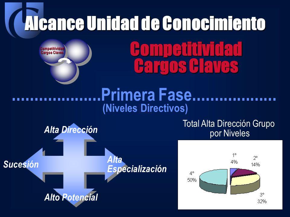Alcance Unidad de Conocimiento Competitividad Cargos Claves Competitividad.................... Primera Fase................... (Niveles Directivos) Al