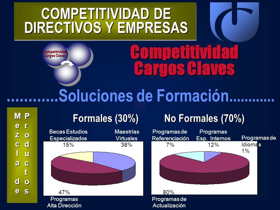 Competitividad Cargos Claves Competitividad............ Soluciones de Formación............ MezclaMezcla dedeMezclaMezcla dede Productos Productos Pro
