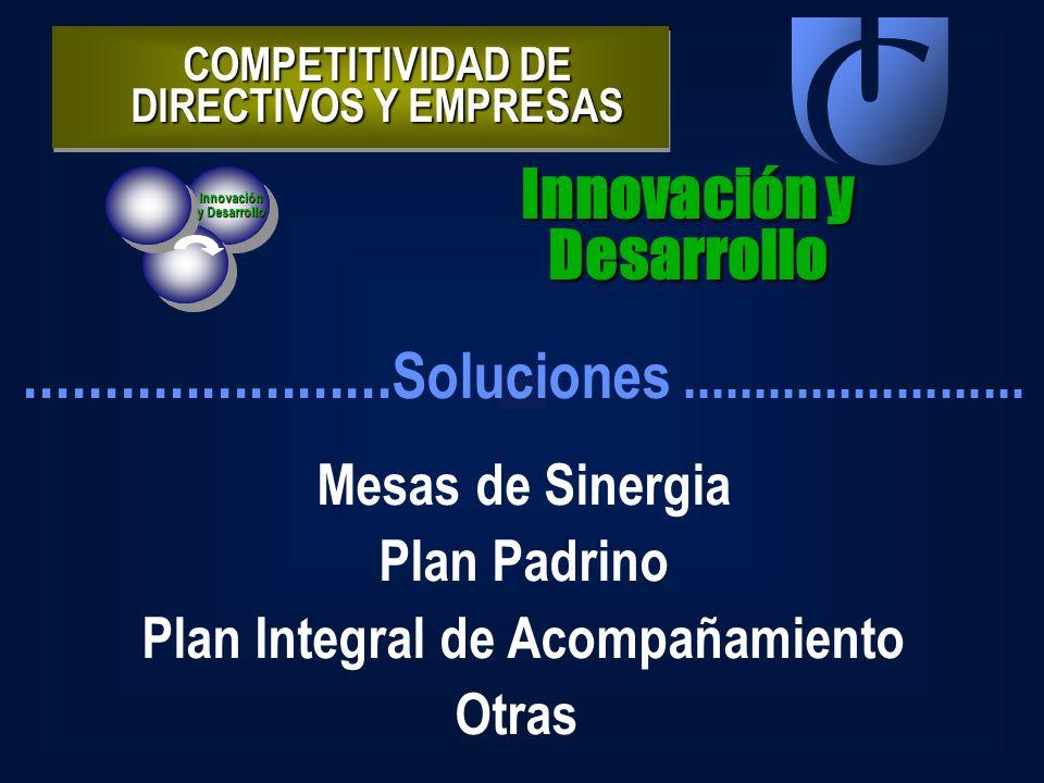COMPETITIVIDAD DE DIRECTIVOS Y EMPRESAS Innovación y Desarrollo Innovación y Desarrollo....................... Soluciones........................ Mesa