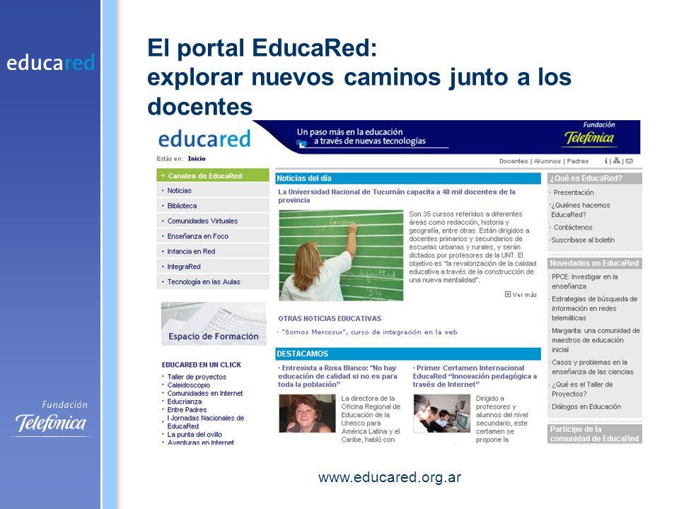 El portal EducaRed: explorar nuevos caminos junto a los docentes www.educared.org.ar