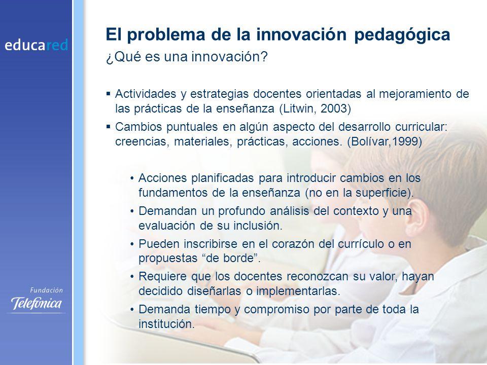 El rol de la tecnología en los procesos de innovación pedagógica