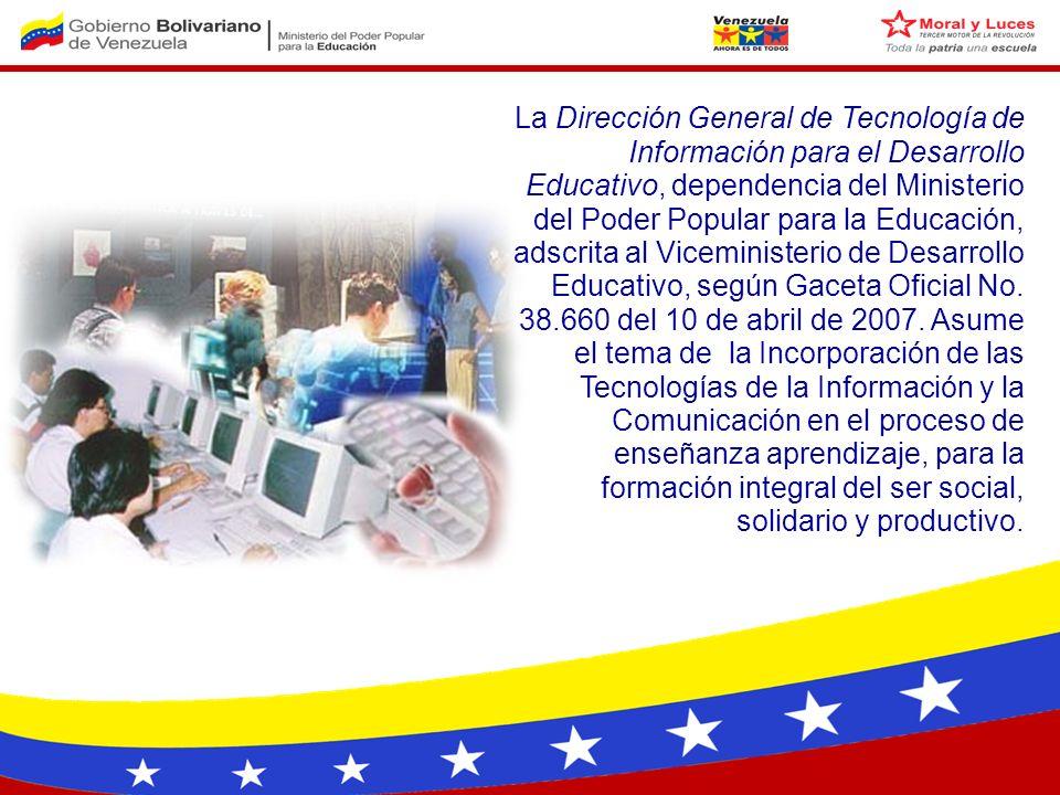 Marco jurídico Enfoque pedagógico Centros Tecnológicos Formación docente en TIC Contenidos y servicios educativos Agenda
