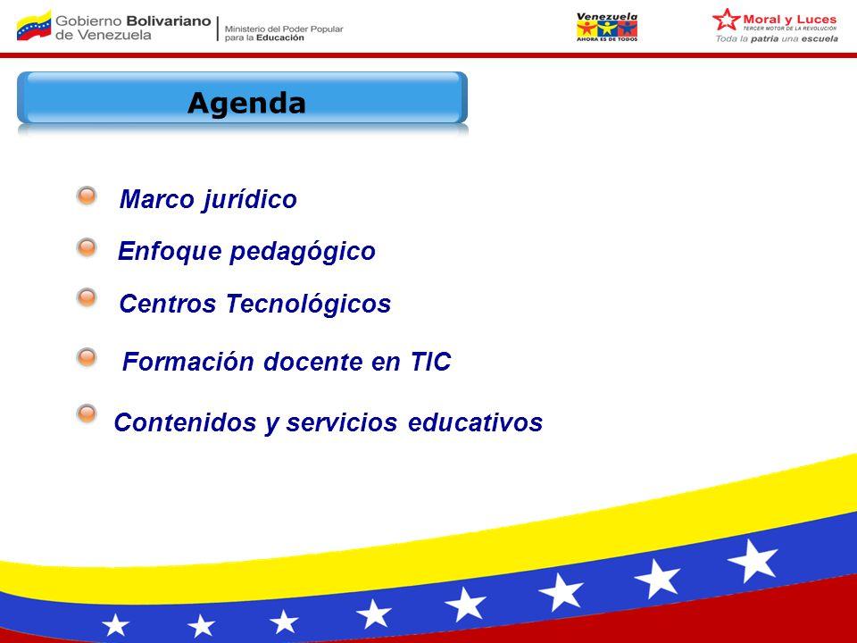 Ley Orgánica de Telecomunicaciones Decreto 825 Decreto 3390 Ley Orgánica de Educación Ley Orgánica de Ciencia Tecnología e Innovación Líneas Generales de Desarrollo Económico y Social 2007-2013 Constitución de la República Bolivariana de Venezuela Art.