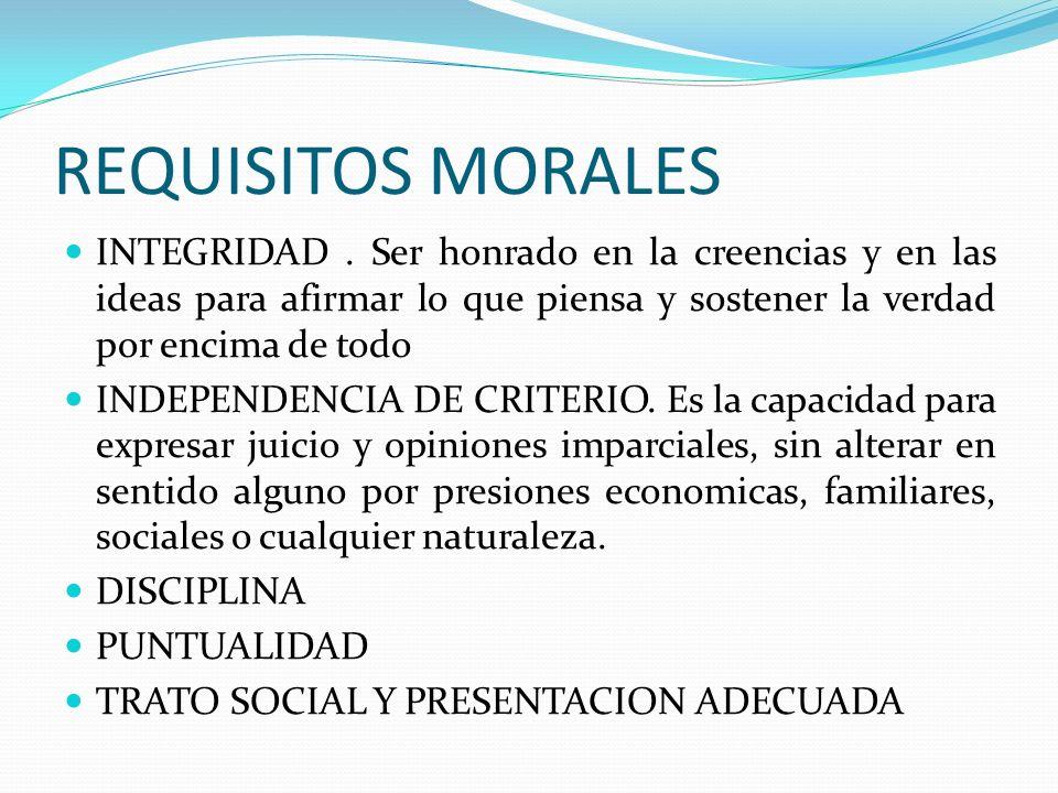 CAPACIDAD INTELECTUAL SE LOCALIZAN EN ESTE GRUPO DE REQUISITOS PERSONALES, LOS SIGUIENTES: CRITERIO Y TACTO HABILIDAD Y CORRECCION AL EXPRESARSE HABILIDAD PARA CAPTAR Y ANALIZAR LOS PROBLEMAS HABILIDAD CONSTRUCTIVA CULTURA GENERAL PROPOSITO CONTINUO DE ESTUDIOS