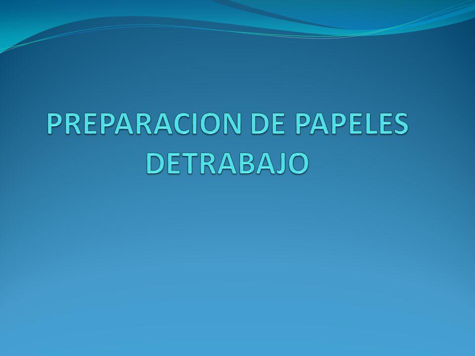 Papeles de trabajo preparados y/o proporcionadospor el área auditada.