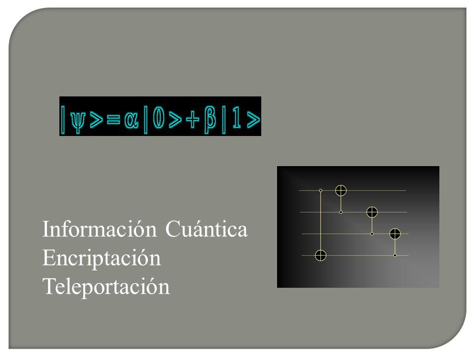Información Cuántica Encriptación Teleportación