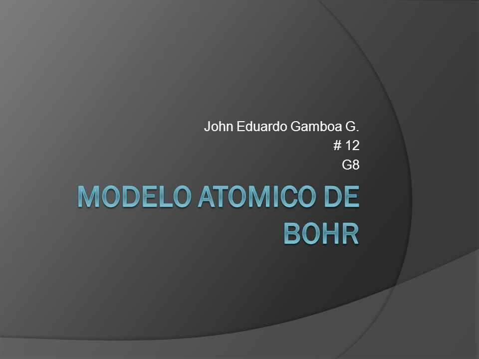 John Eduardo Gamboa G. # 12 G8