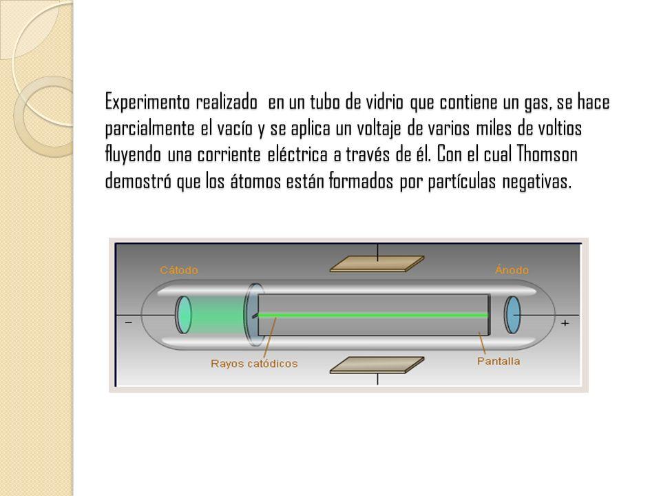 Experimento realizado en un tubo de vidrio que contiene un gas, se hace parcialmente el vacío y se aplica un voltaje de varios miles de voltios fluyen