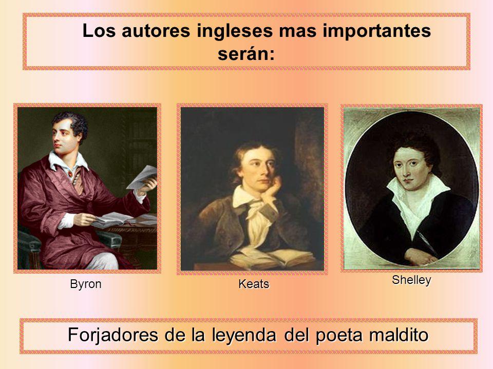 Los autores ingleses mas importantes serán: ByronKeats Shelley Forjadores de la leyenda del poeta maldito