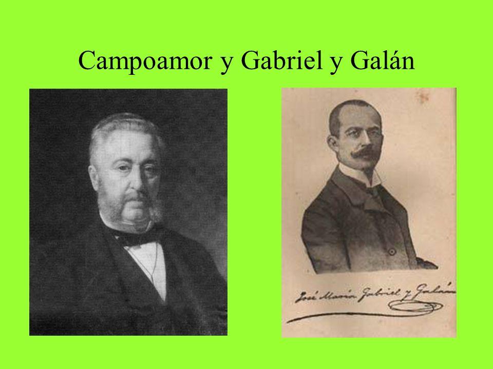 Campoamor y Gabriel y Galán