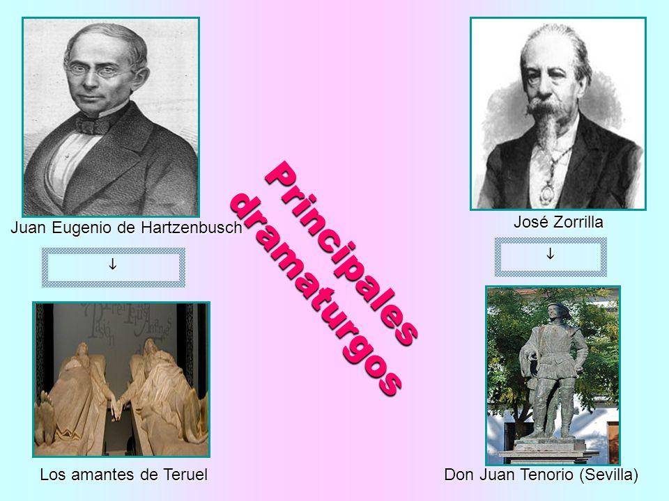 Juan Eugenio de Hartzenbusch José Zorrilla Los amantes de Teruel Don Juan Tenorio (Sevilla) Principales dramaturgos