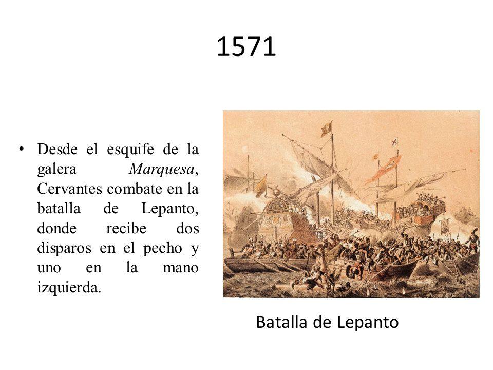 1569 Cervantes se traslada, de improviso, a Roma (quizás por haber herido en duelo a Antonio de Sigura), donde servirá de camarero al futuro cardenal