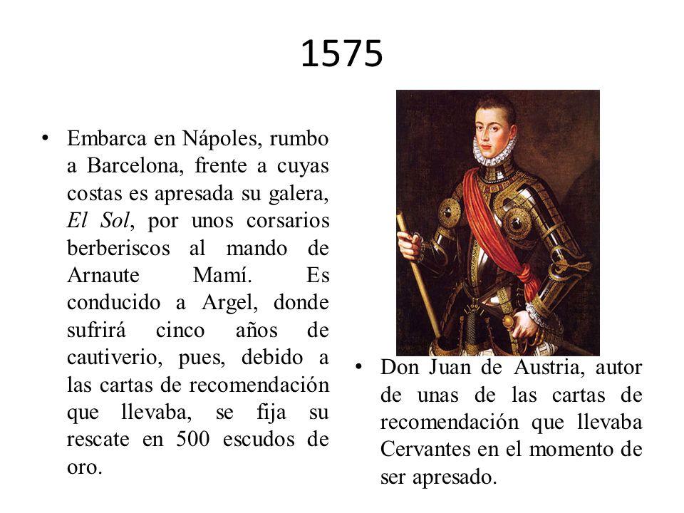 1574 Participa en las expediciones de don Juan de Austria. Fundación del Corral de la Pacheca en Madrid