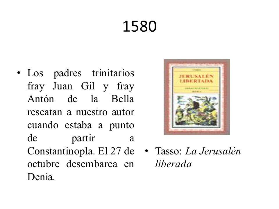 1578 Tercer intento de evasión, otra vez fracasado, y condena a recibir 2000 palos. Santa Teresa de Jesús: Las Moradas.