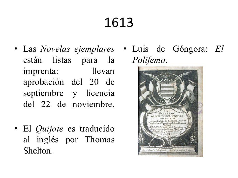 1609 Cervantes ingresa en la Congregación de los Esclavos del Santísimo Sacramento del Olivar. Su mujer y su hermana Andrea ingresan en la Orden Terce