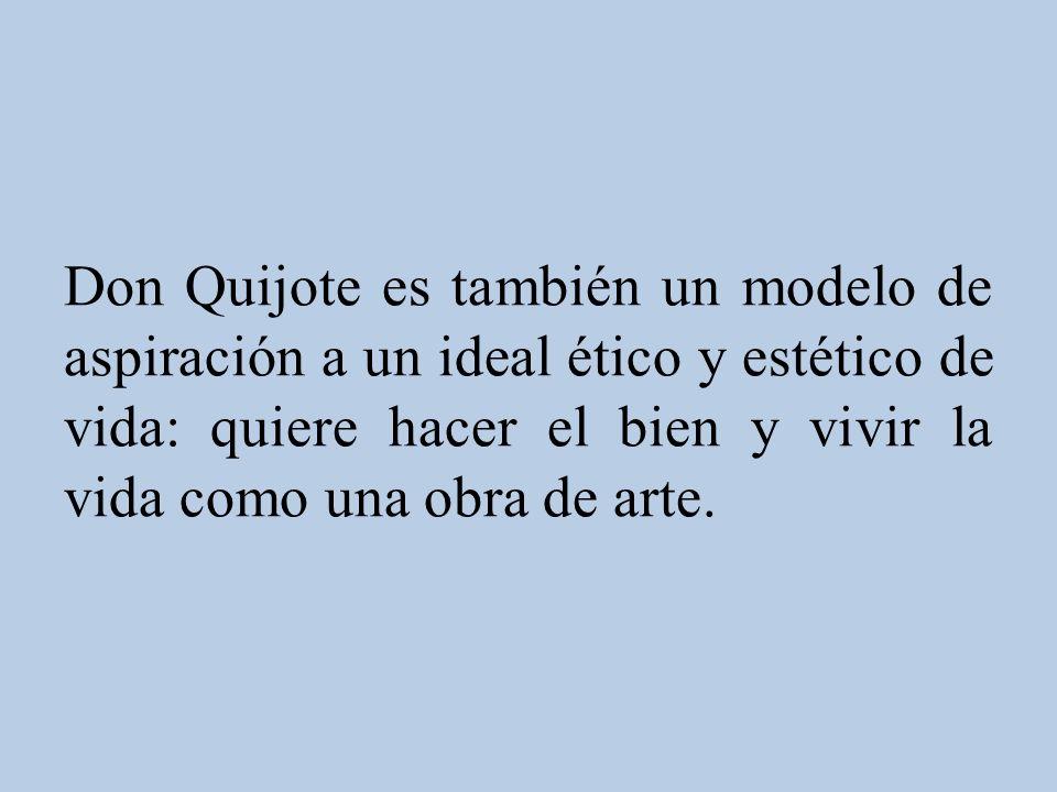 Personalidad del héroe Don Quijote representa una concepción del amor caballeresco sustentada en la tradición del amor cortés.