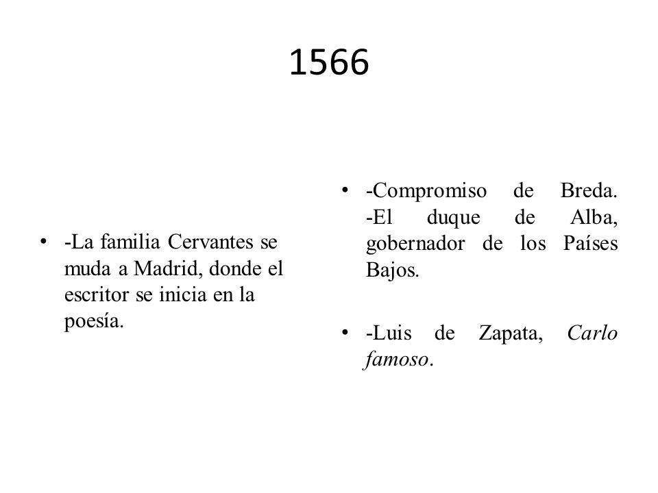 1564 El padre de Cervantes está, quizás sin la familia, asentado en Sevilla como médico y, otra vez, endeudado. -Gaspar Gil Polo, La Diana enamorada.