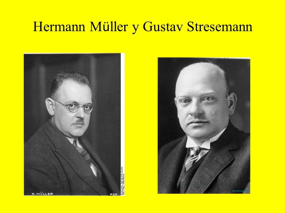 Hermann M ü ller y Gustav Stresemann