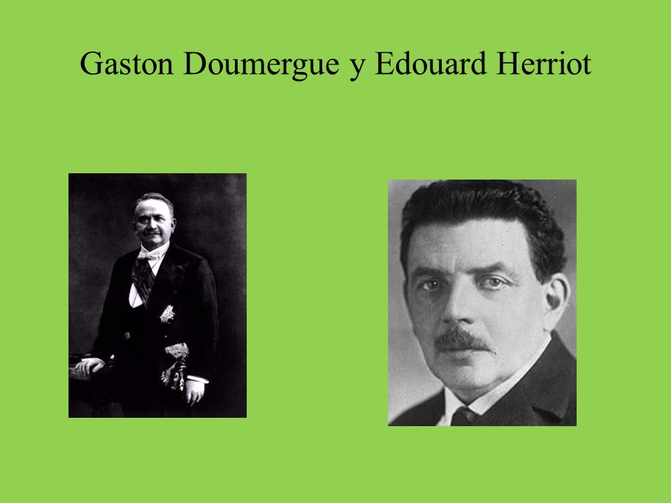 Gaston Doumergue y Edouard Herriot