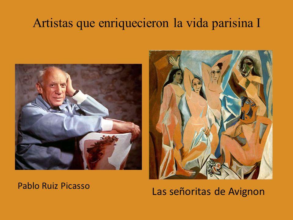 Artistas que enriquecieron la vida parisina I Pablo Ruiz Picasso Las señoritas de Avignon