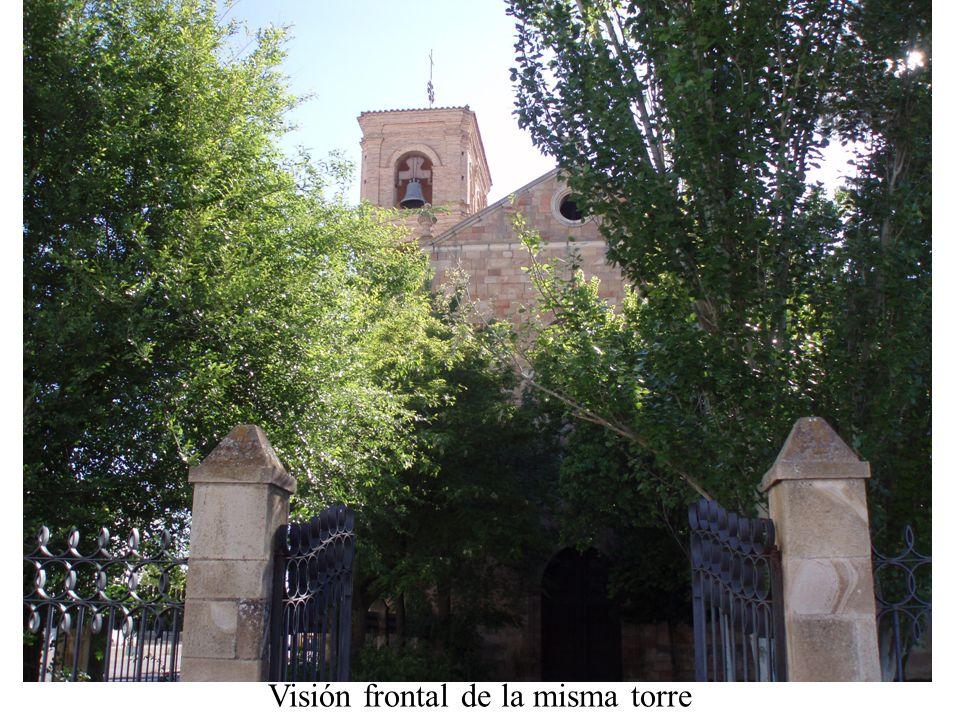 Visión frontal de la misma torre
