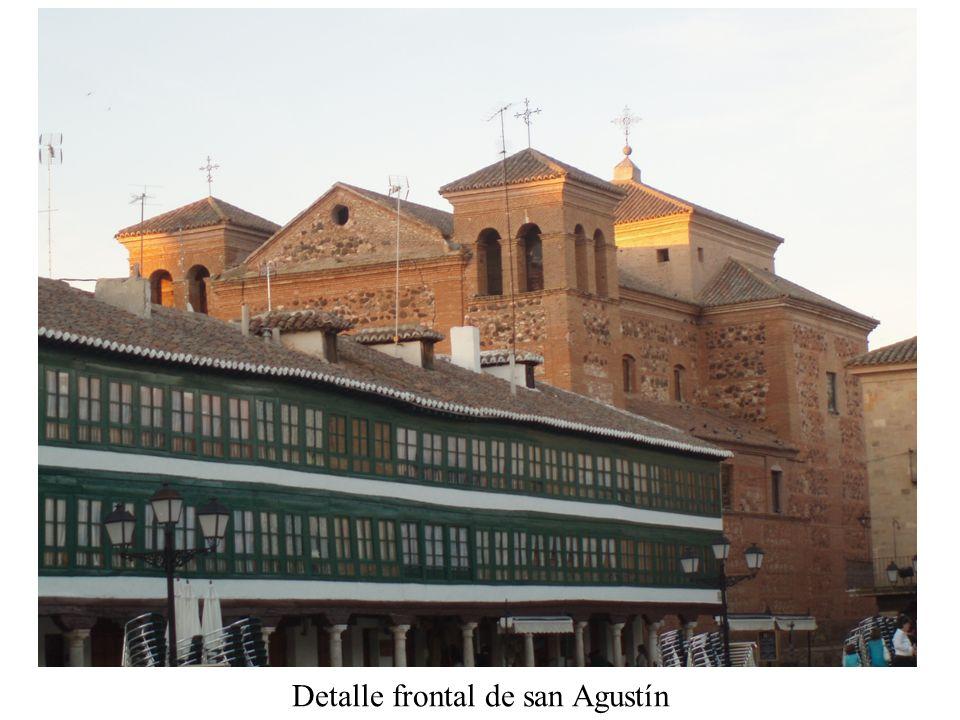 Detalle frontal de san Agustín