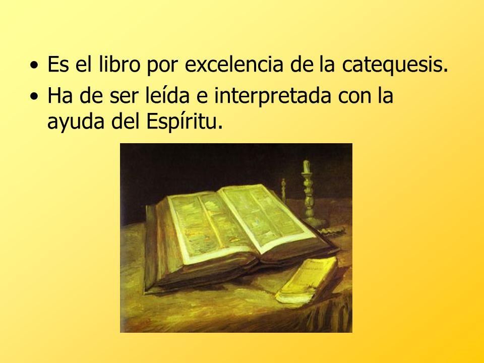 Es el libro por excelencia de la catequesis. Ha de ser leída e interpretada con la ayuda del Espíritu.