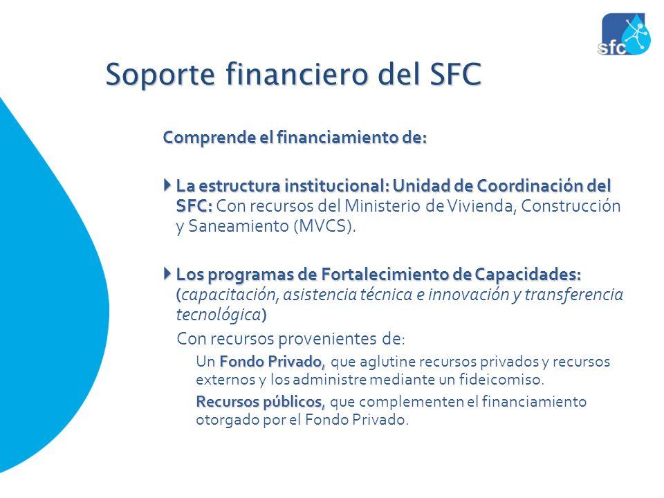 Comprende el financiamiento de: La estructura institucional: Unidad de Coordinación del SFC: La estructura institucional: Unidad de Coordinación del S