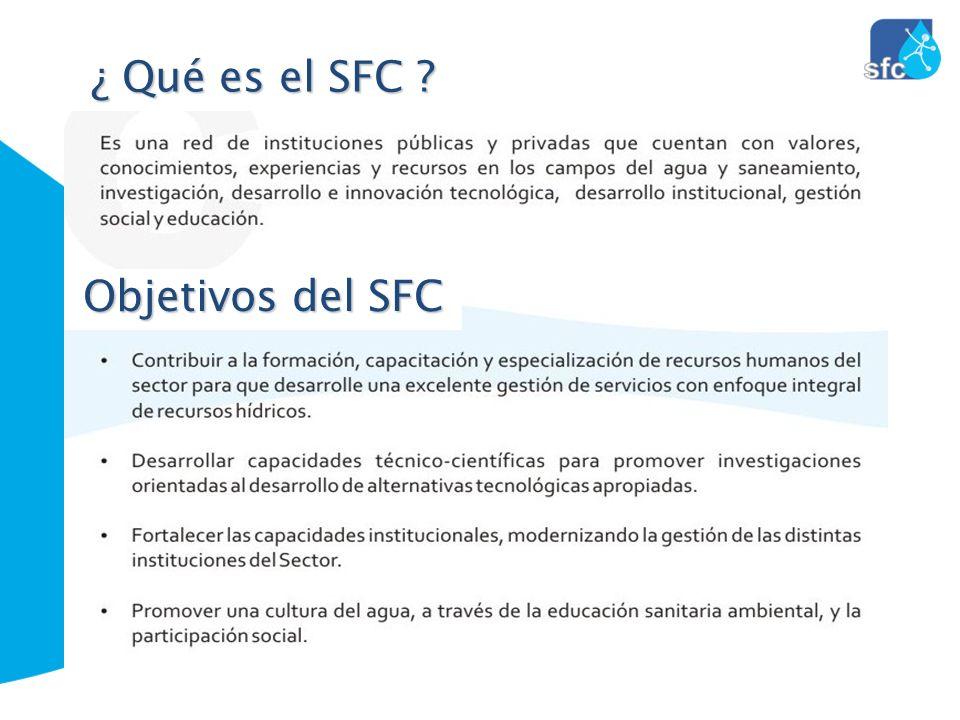 ¿ Qué es el SFC ? Objetivos del SFC
