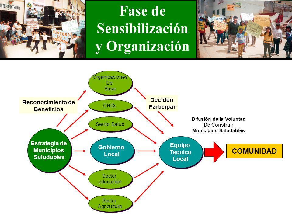 Estrategia de Municipios Saludables Estrategia de Municipios Saludables COMUNIDAD Organizaciones De Base Organizaciones De Base ONGs Sector Salud Gobi