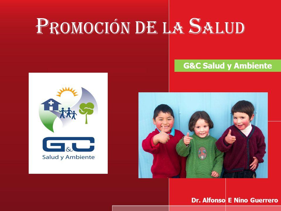 P romoción de la S alud G&C Salud y Ambiente Dr. Alfonso E Nino Guerrero