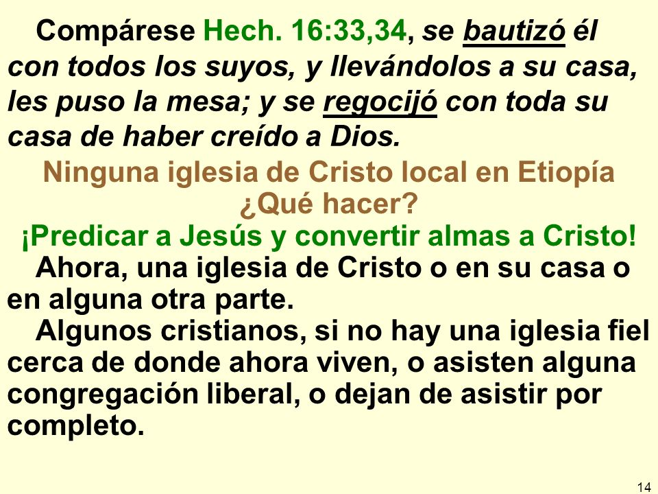 14 Compárese Hech.