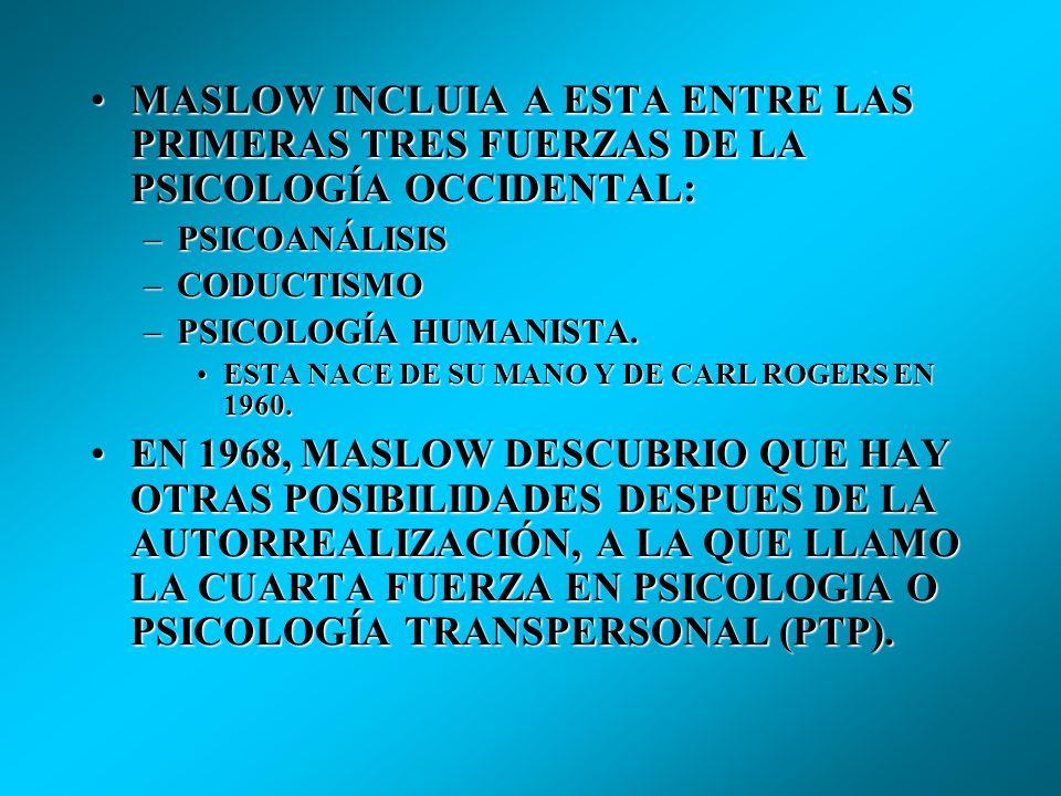 La Psicología Transpersonal surge como un movimiento continuador de la Psicología Humanista, propuesta y avanzada por Abraham Maslow. Aunque existen p