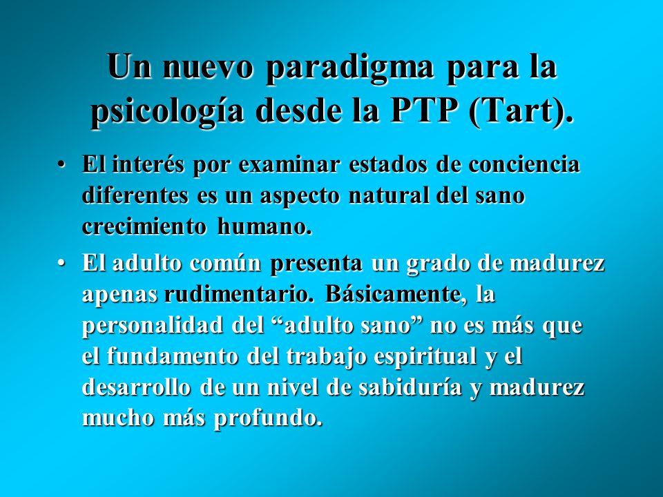 Un nuevo paradigma para la psicología desde la PTP (Tart). La realidad psicológica es tan real como la realidad física, y estan unidas.La realidad psi