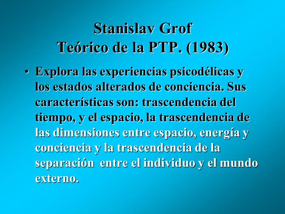 Stanislav Grof Teórico de la PTP. (1983) La mente puede compararse con un holograma, una de cuyas piezas contiene toda la información del conjunto ori