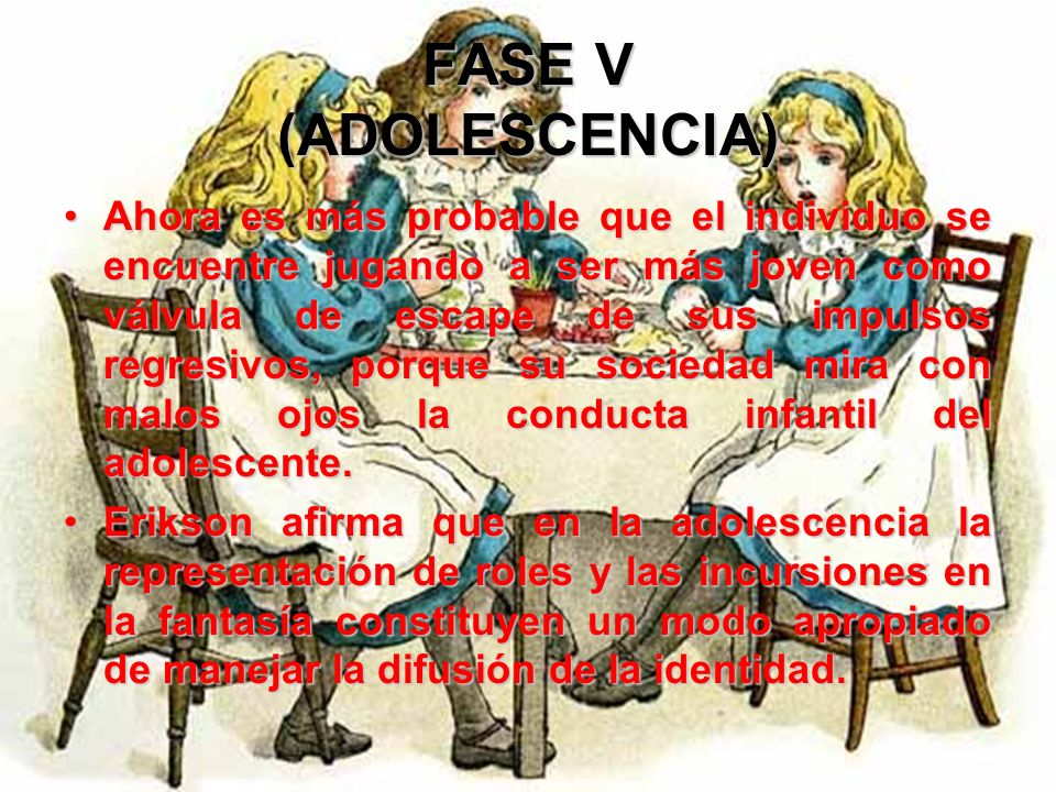 FASE V (ADOLESCENCIA) El lenguaje a menudo se limita a expresar en voz alta el pensamiento, el hábito adolescente de conversar interminablemente con d
