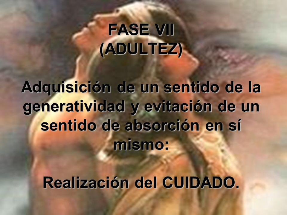 FASE VI (ADULTO JOVEN) Los hombres y las mujeres son semejantes en su capacidad de ciudadanía y trabajo; sin embargo, sus modalidades para relacionars