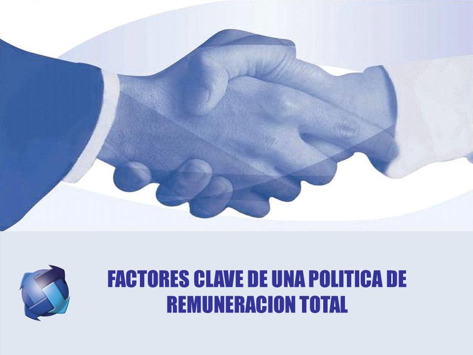 FACTORES CLAVE DE UNA POLITICA DE REMUNERACION TOTAL
