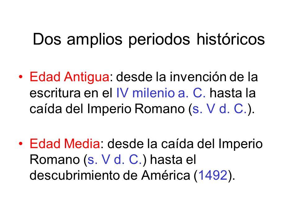 Edad Antigua: desde la invención de la escritura en el IV milenio a.