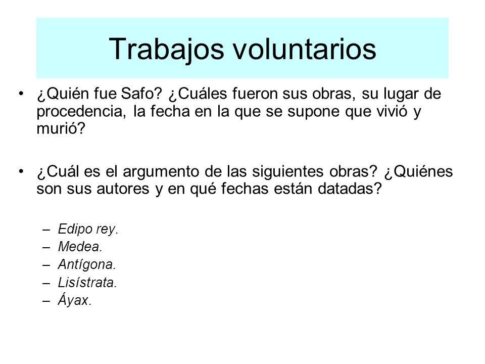 Trabajos voluntarios ¿Quién fue Safo.