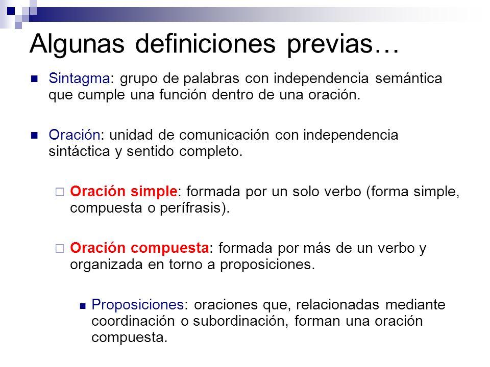 Coordinación Según los nexos que usen, las proposiciones coordinadas se clasifican en: Copulativas: y, e, ni, … Disyuntivas: o, u, o bien… Adversativas: pero, mas, sin embargo, no obstante… Explicativas: es decir, esto es, o sea… Distributivas: bien… bien, ya… ya.