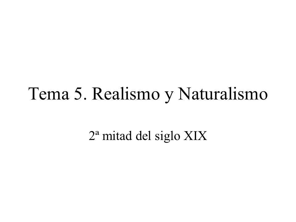 Tema 5. Realismo y Naturalismo 2ª mitad del siglo XIX
