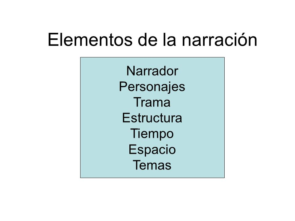Narración 1.