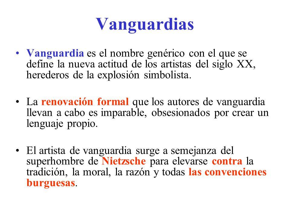 Principales vanguardias 1. Expresionismo 2. Cubismo 3. Futurismo 4. Surrealismo